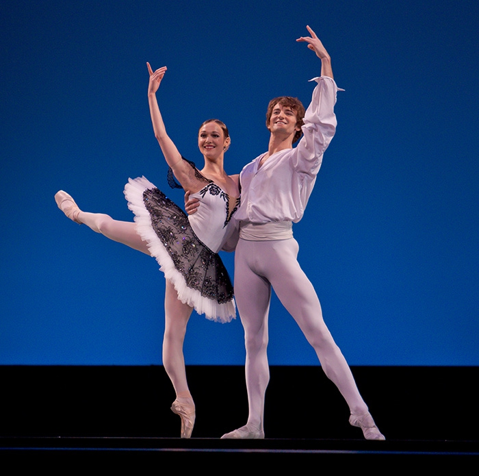 Grand Pas Classique - Choreography by Victor Gsovsky Jurgita Dronina and Aaron Robison - Photo: Alejandro Lopez