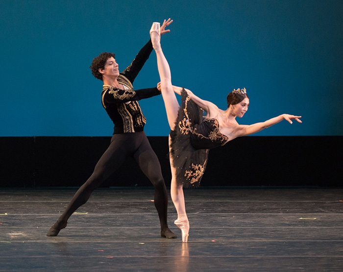 Black Swan Choreography by Marius Petipa Misa Kuranaga and Isaac Hernández  Photo: Casey Herd
