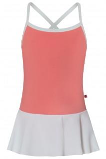 Kids Lilia T-Peach N-White with N-White skirt