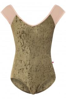 Nina Mesh Brule V-Olive T-Nude