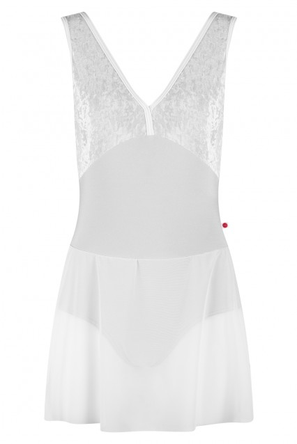 Alicia Ballerina Dress N-Silver V-Silver T-White