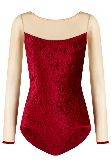 Meagan V-Dark Red Mesh Brule T-Latte