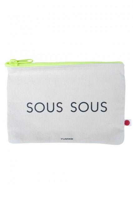 """Canvas Pouch """"Sous-Sous"""""""