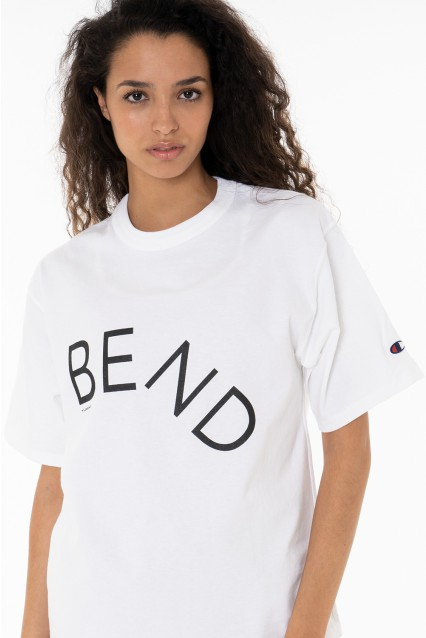 "White T-Shirt ""Bend"""
