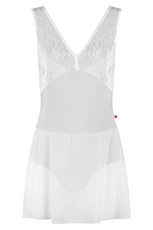 Alicia Ballerina Dress N-Silver V-Silver T-White