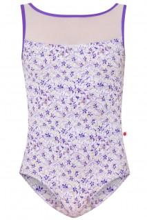 Meagan Purple Blossom White Mesh N-Violet
