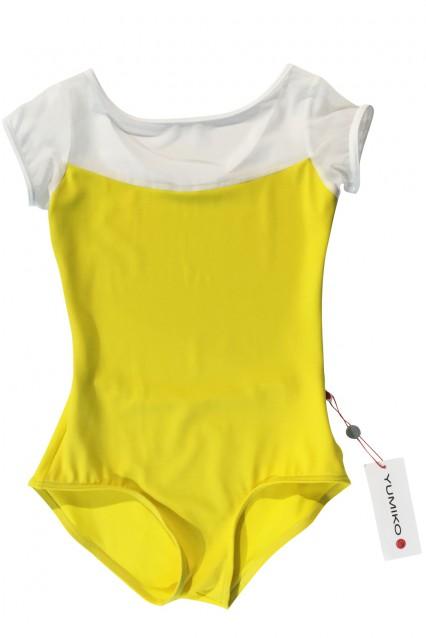 Meagan T-Buttercup Mesh White T-White