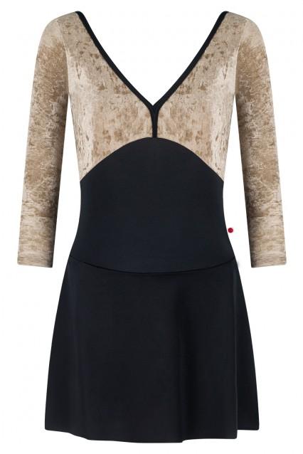Alicia Ballerina Dress T-Black V-Toffee T-Black