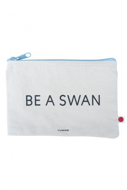 """Canvas Pouch """"Be A Swan"""""""
