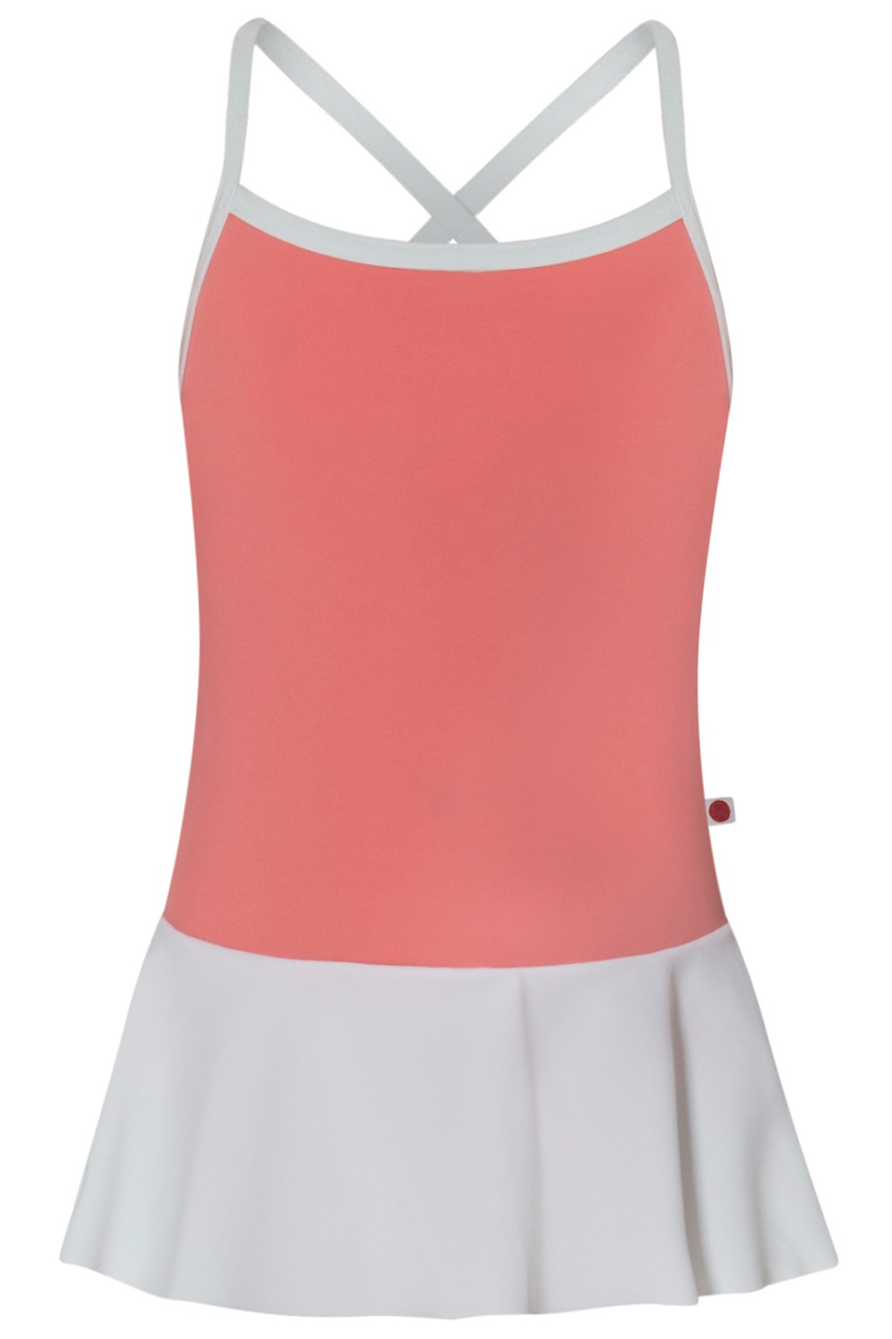 Kids Lilia T-Peach N-White with N-White skirt