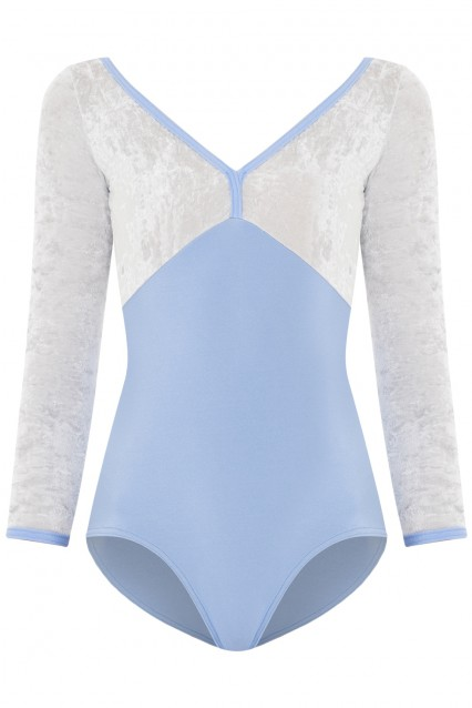 Alicia N-Moontide, V-Silver with 3/4 sleeves and N-Moontide trim
