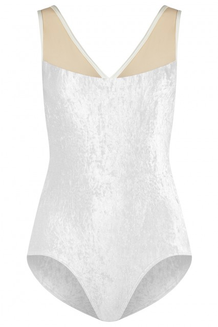 Masha V-White, Mesh Brule with N-Antique trim