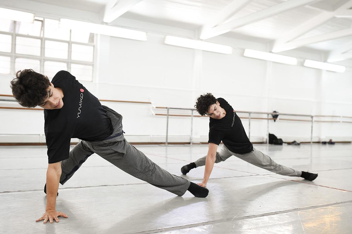 Isaac and Esteban Hernandez in the studio wearing Yumiko t-shirts