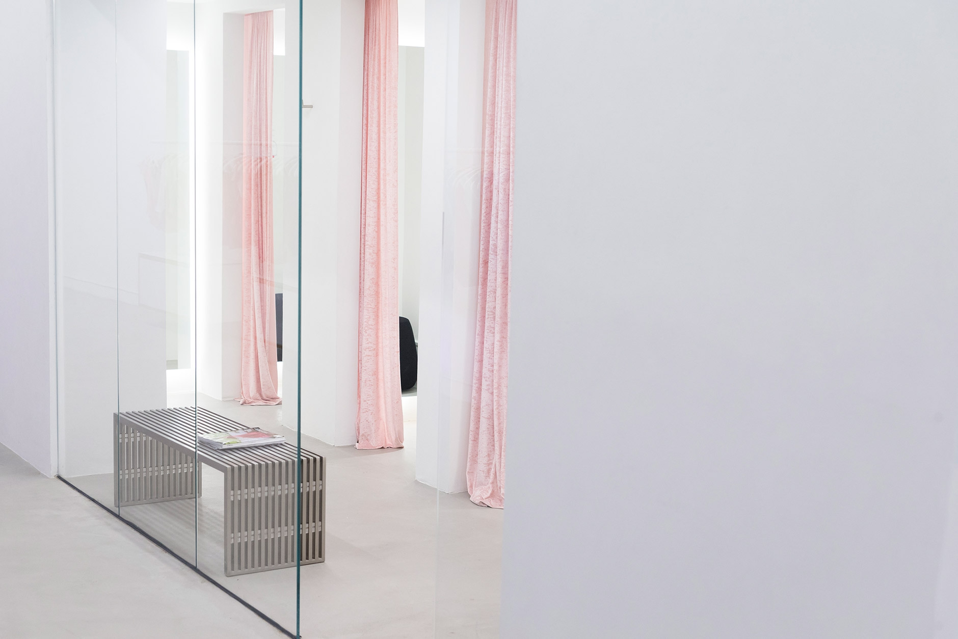 Yumiko New York Boutique dressing rooms