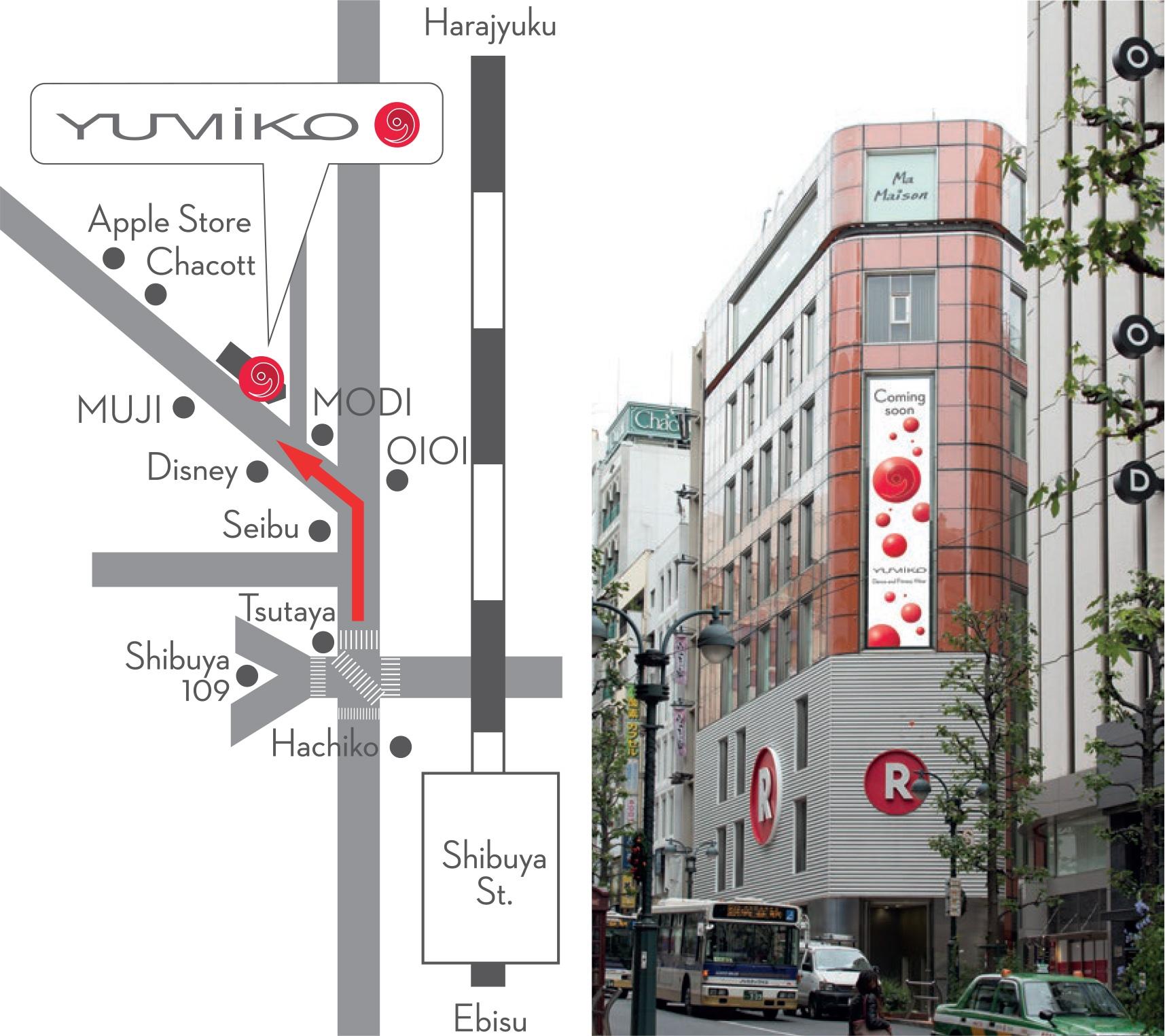 Yumiko Tokyo Boutique Map Route